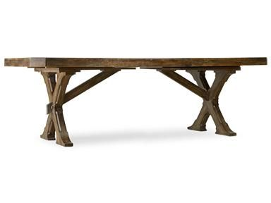 Hooker Furniture Dining Room Willow Bend Rectangle Trestle Table At North  Carolina Furniture Mart At North Carolina Furniture Mart In Bixby, OK