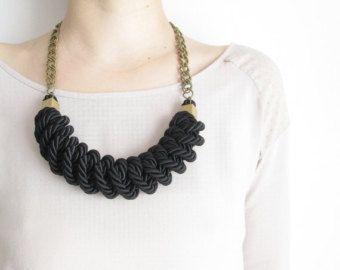 Pink Rope necklace Pink Nautical rope necklace от NasuKka на Etsy