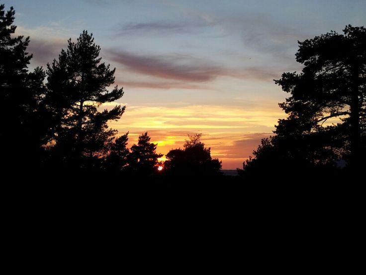 Atardecer en San Rafael / sunset at San Rafael, Segovia, Spain