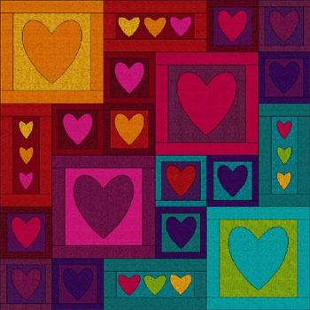 pattern: Patchwork, Rainbows Bright, Rainbows Colors, Totally Colors, Pretty Colors, Patterns Rainbows, Rainbow Colors, Colors Heart, Colors Explosions