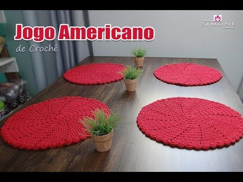 Jogo americano de Crochê - Professora Simone - YouTube