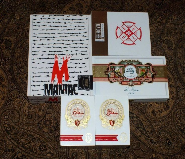 Maniac My Father & More White Base Wooden Cigar Boxes Crafts Clocks Storage