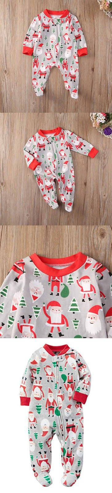 Newborn Baby Girls One-pieces Infant Santa Claus Christmas tree Clothes Outfits (6-12 Months, Red)