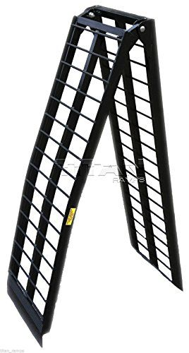 10 ft HD Wide Motorcycle Loading Ramp harley ramps cycle dirtbike truck (120 -M)  The heavy duty Titan 10 ft ramp is the ultimate solution when loading your motorcycle or other 2 wheeled items into a truck or trailer. The lightweight folding design makes storage and portability a breeze. – Capacity: 1,200 lbs – Capacity: 1,200 lbs – Arched design for better clearance – Capacity: 1,200 lbs – Capacity: 1,200 lbs – Arched design for better clearance – Serrated crossbars allow for great ..