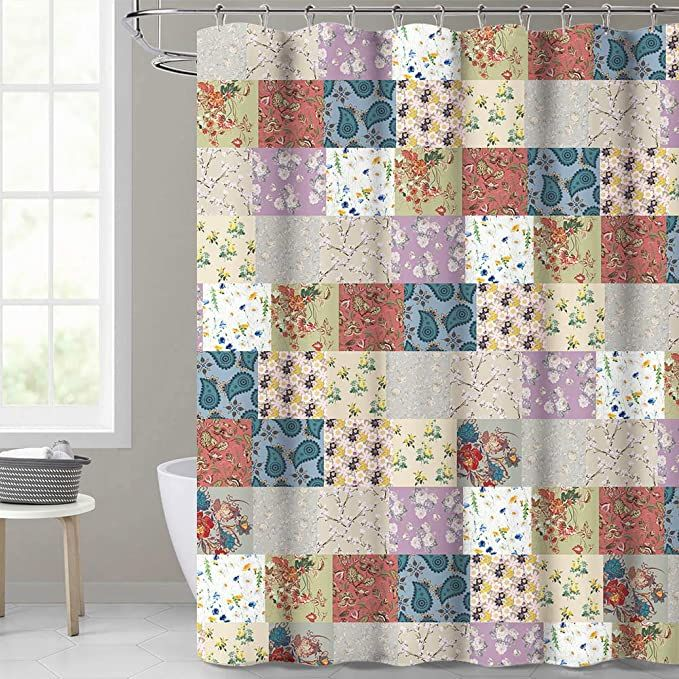 Colorful Shower Curtain Boho