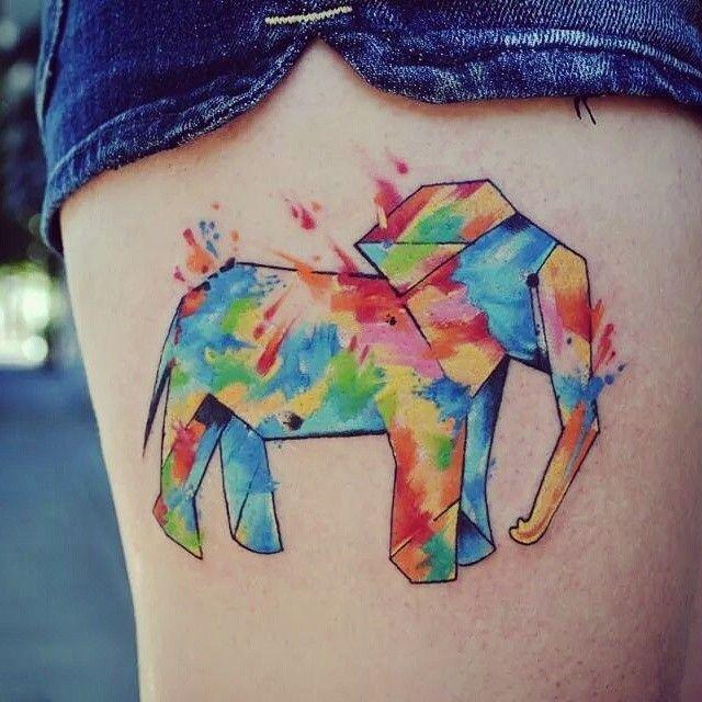tattoosbylindsaycarter - #elephanttattoo #elephant  #watercolor