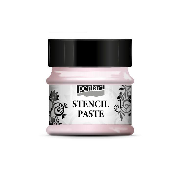 Stencil paste - pearl // Stencilezéshez kifejlesztett paszta gyöngyházas árnyalatokban. Vastagabb és vékonyabb stencilekhez egyaránt kiváló, könnyen kenhető, lágy állagú paszta, mely hátterezésre (pl. scrapbook technikánál) vagy fő motívumként is nagyszerűen alkalmazható.