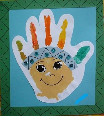 handprint_indian | Crafts and Worksheets for Preschool,Toddler and Kindergarten