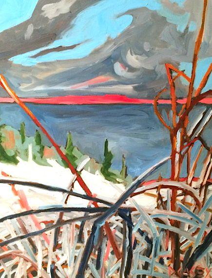 Pink Horizon David Casey. Ottawa artist, Canadian artist, landscape art, SANTINI GALLERY.