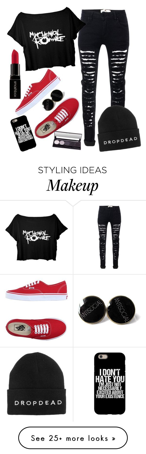 """to the end"" by chickadeeanya on Polyvore featuring Vans and Smashbox"