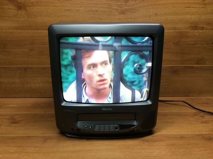 "Memorex MVT2135B 13"" CRT Color KITCHEN PORTABLE TV VCR COMBO VHS #Memorex"