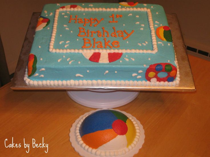 11 best cakes images on Pinterest Beach ball birthday Birthday