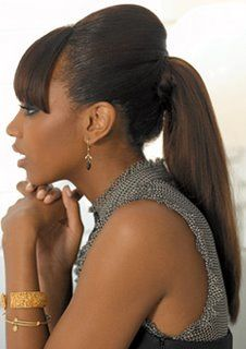 9 best ponytail hairstyles for black hair images on pinterest black women ponytail hairstyles with bangs black women ponytail hairstyles with bangs are commonly made with long hair nevertheless there are various pmusecretfo Choice Image