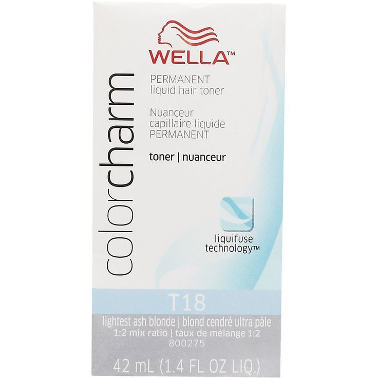 WELLA Color Charm Permanent Liquid Hair Toner T18 (Lightest AshBlonde) 1.4 fl oz * Continue to the product at the image link. (This is an affiliate link and I receive a commission for the sales)