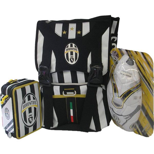 Schoolpack Juventus Zaino Estensibile + Astuccio 3 zip