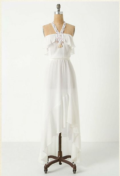 All White Long Vintage Style Bridesmaid Dress