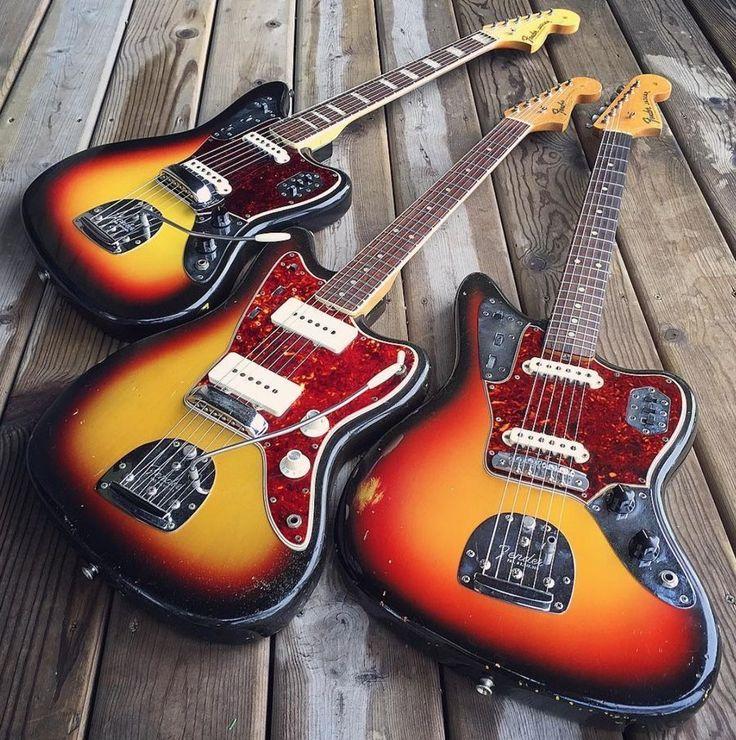 1966 Fender Jaguar, 1965 Jazzmaster, 1964 Jaguar