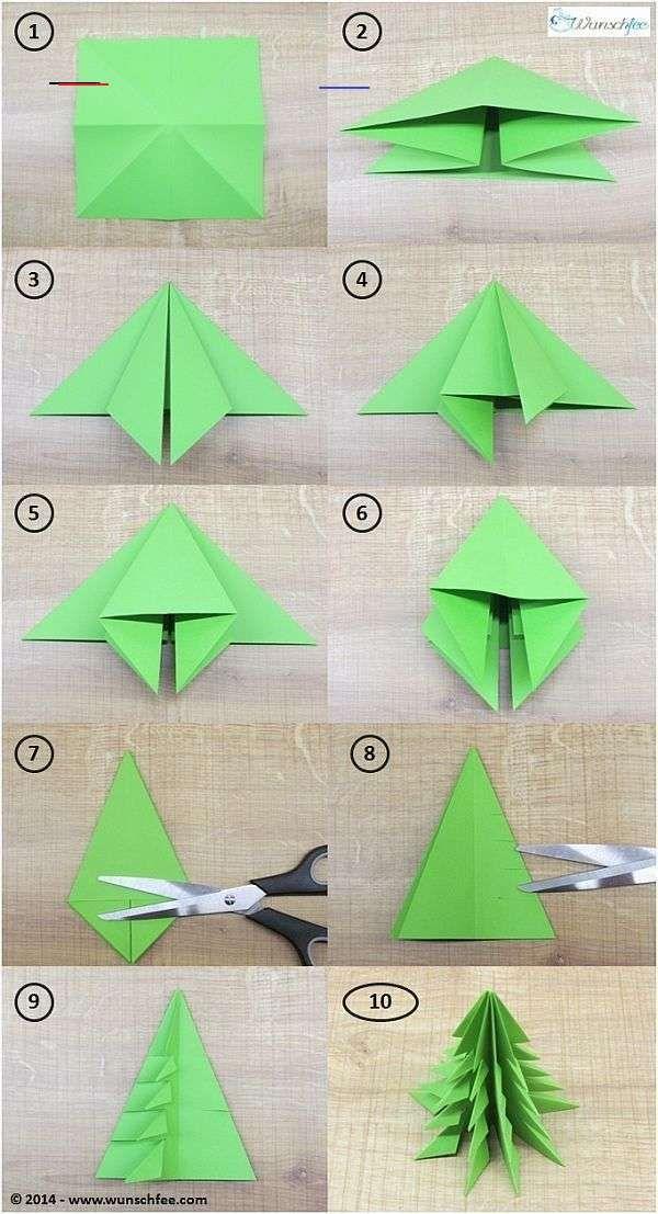 Gruppenkostume Origami Sapin De Noel Origami Noel Origami Facile