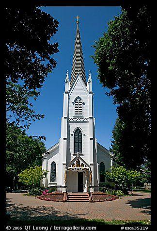 Church of the Nativity, mid-day. Menlo Park,  California, USA