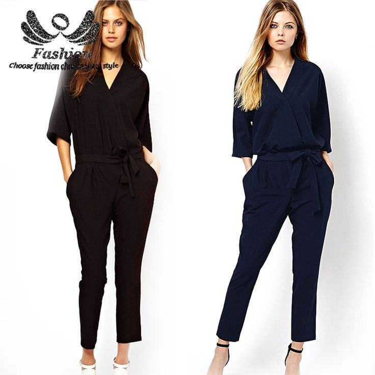 Find More Jumpsuits & Rompers Information about 2016 Summer Chiffon Jumpsuit Women's Plus Size Overall Bodysuits Elegant V neck Collar Sashes Office Work Playsuits ,High Quality jumpsuit baby,China chiffon plus size dresses Suppliers, Cheap chiffon georgette from Fashion Fara Store on Aliexpress.com