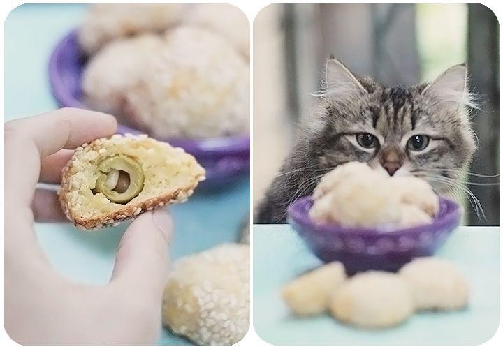 сырные плюшки с оливками - рецепт Дельнары (кедр. орешки заменить фисташками?)