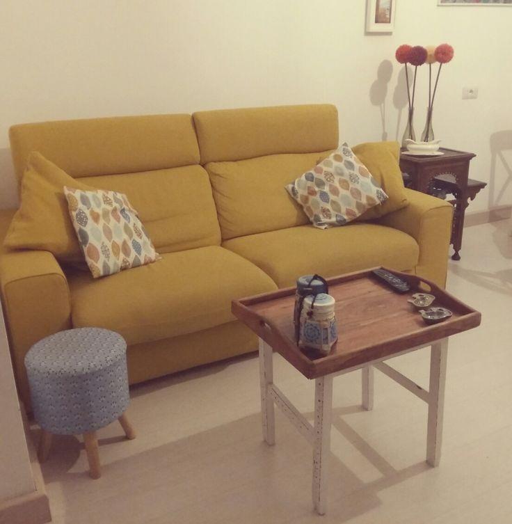 Living room #yellow