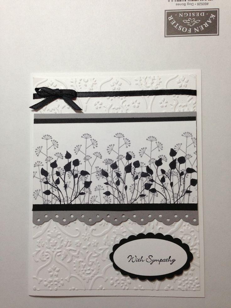 Card Making Ideas Sympathy Part - 35: Sympathy Card. Handmade ...
