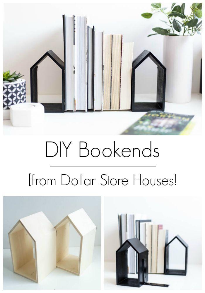DIY Bookends [a Dollar Store DIY – #Bookends #DIY …