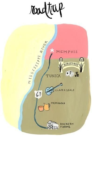 "The Route: From Memphis, take Highway 61 (the ""Blues Highway"") to Tunica, Mississippi.  Then it's another 30 miles south to Clarksdale and 30 minutes to Merigold."