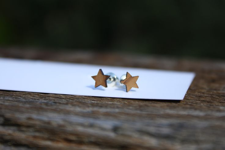 Cedar star stud earrings - $15