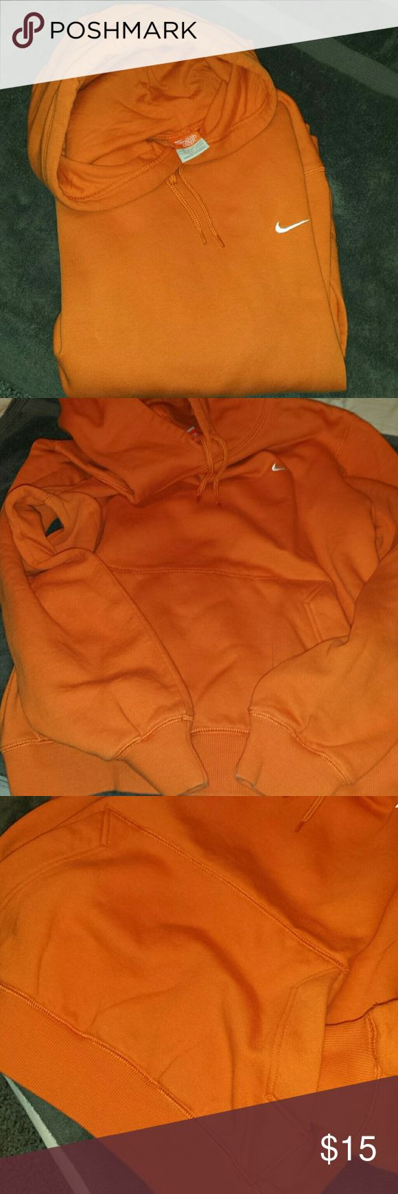 NIKE Hoodie Orange. No stain  Unisex hoodie Medium for women Small for boys/ XS for men Nike Tops Sweatshirts & Hoodies