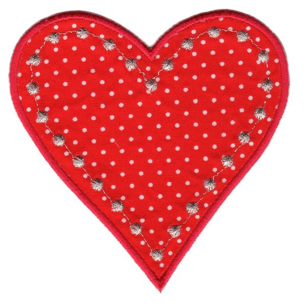"Heart Iron-On Applique Patch - Size: 3-3/4"" x 3-3/4"" (9-1/2 x 9-1/2 cm) - $5.49"