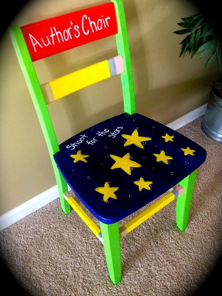 Author's Chair... award to a different student each day who has a break-through, goes the extra mile, or just because they need to remember they ARE an author. <3