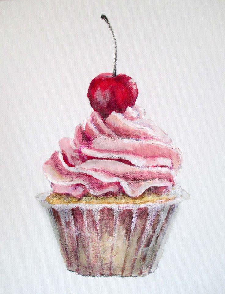 Картинки десертов карандашом поэтапно