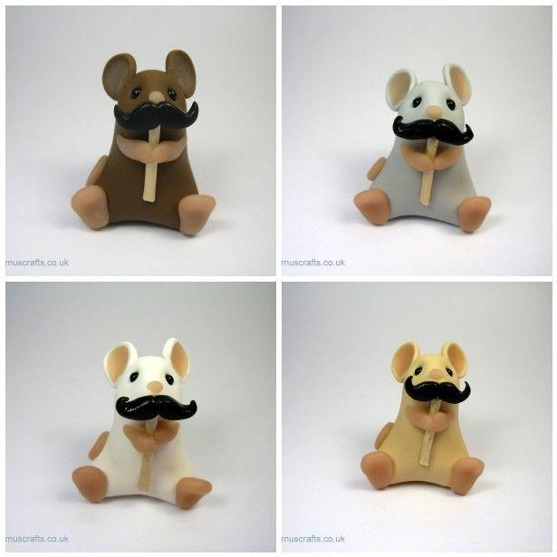 Little Mouse with Moustache Ornament Sculpture ... - Folksy