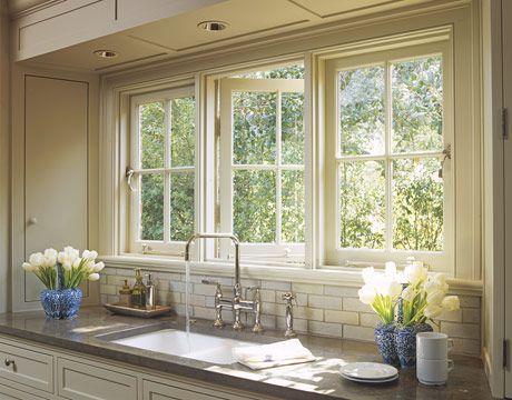 Classic English Looks In Los Angeles. Kitchen Sink WindowKitchen ...