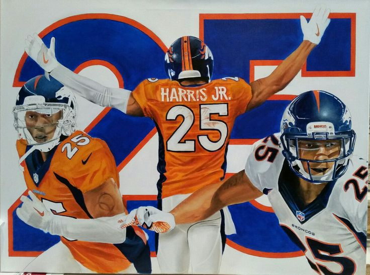 Chris Harris Jr painting 30x40   Acrylic on Canvas
