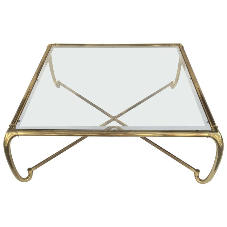 Mastercraft Furniture For Sale #33: View This Item And Discover Similar Coffee And Cocktail Tables For Sale At - Wonderful Antique Brass Cocktail Table By Mastercraft. Inset Beveled Glass Sits ...