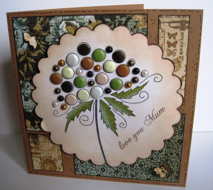 Another card made with beautiful Woodware stamps - Bubble Bloom Clarissa - http://www.samueltaylors.co.uk/woodware-clear-magic-singles-bubble-bloom-clarissa.ir?cName=papercraft-new-in-stamps