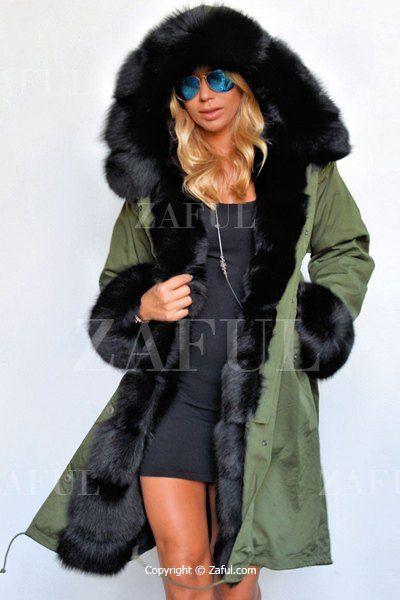 Hooded Faux Fur Trim Parka Coat GREEN: Jackets & Coats | ZAFUL