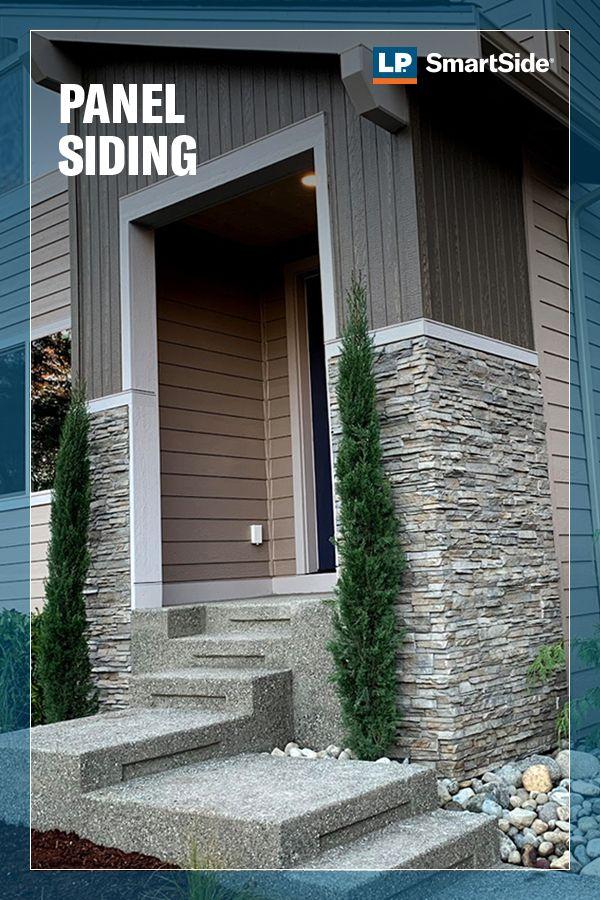 Panel Siding Gallery Home Exterior Makeover Exterior House Colors Stone Facade