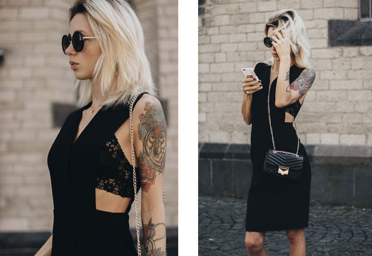 OUTFIT: BLACK CUT OUT DRESS /W LACE BRA & VALENTINO HANDBAG http://www.couturedecoeur.com/outfit-black-cut-out-dress-w-lace-bra-valentino-handbag/ streetstyle, styleblogger, cut out dress, fashion, fashionblog, köln, cologne, street style, outfit, ootd, fashion trends, modeblogger, deutsche blogger, black dress, fashioninsta, blogger style, valentino handbag, elegant outfit, how to wear cut out dress, fashion inspiration, outfitpost, photoshooting, self timer, fashion photography