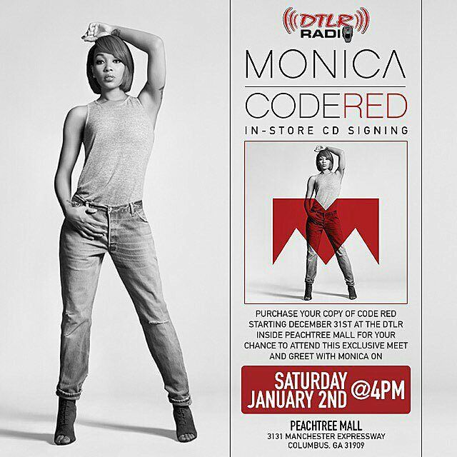 @Regrann from @monicabrown -  COLUMBUS GEORGIA ... January 2nd join me at 4pm for a Code RED CD signing at the Peachtree Mall ... Pls read the flyer for details ... See you there #Regrann
