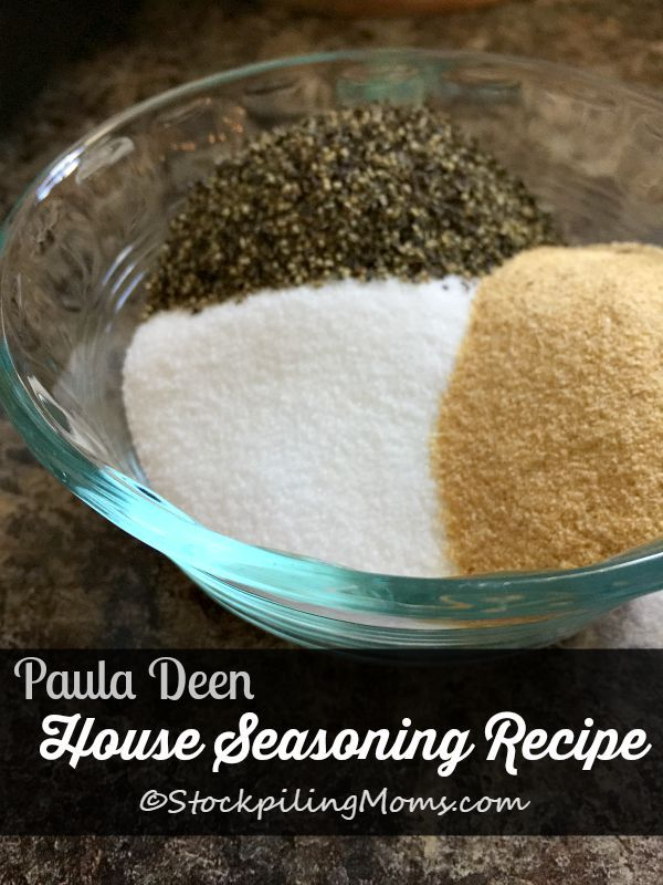 Paula Deen House Seasoning Recipe is so simple to make with only 3 ingredients! Perfect for meat, chicken, fish or any breading mixture.