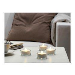 STÖPEN Bougie chauffe-plat à DEL - IKEA, 8,99$ les 8