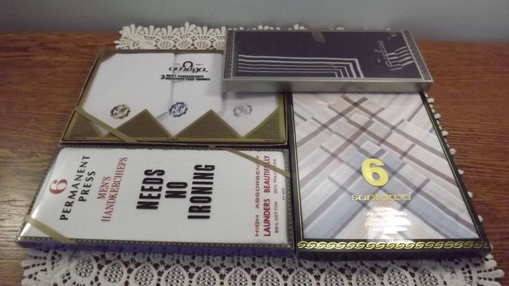 Vintage Handkerchiefs Lot of 17 New in the Box Hankies, New Old Stock Hankies Galore! by OutrageousVintagious on Etsy