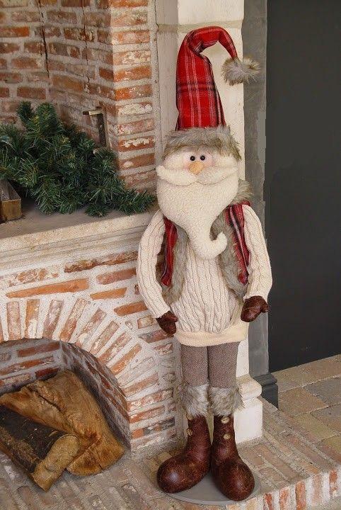 Grand père Noël peluche