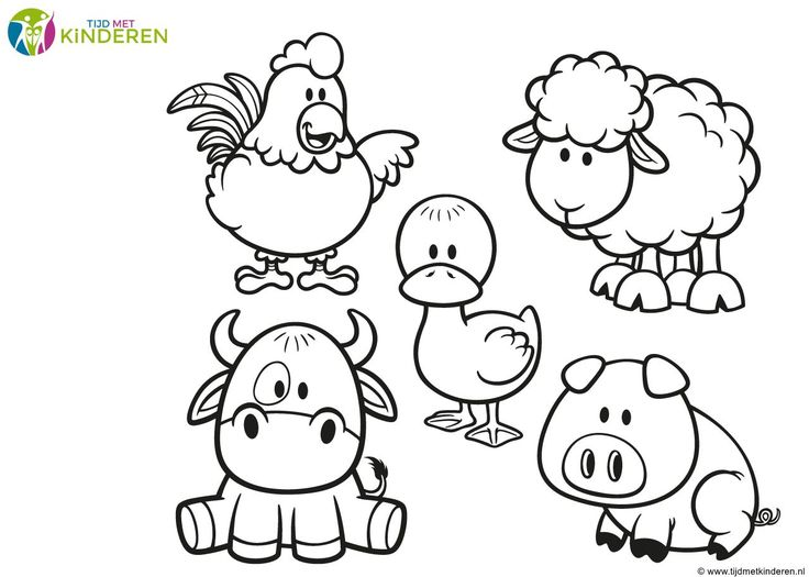 dieren kleurplaten peuters | Kleurplaten boerderij - Bestekleurplaten.nl