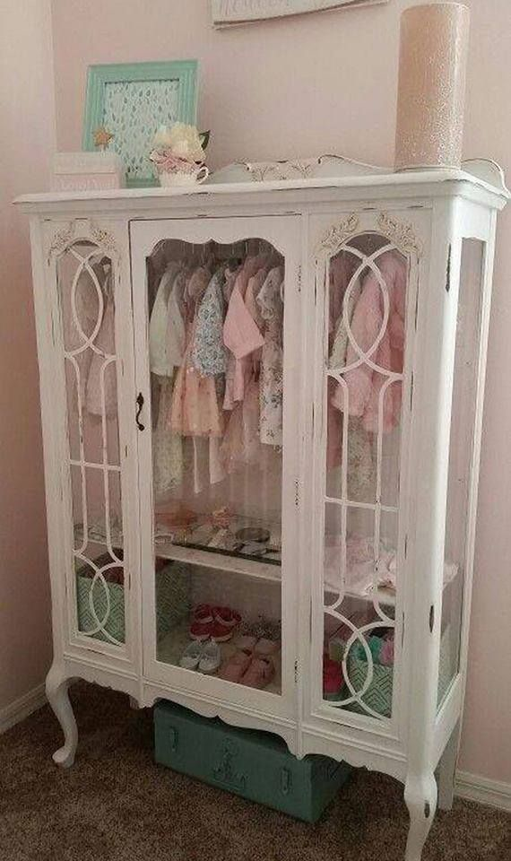 Old China Hutch turned into Kids dresser THIS COULD WORK FOR LINEN OR SHOES/HANDBAGS  TOO