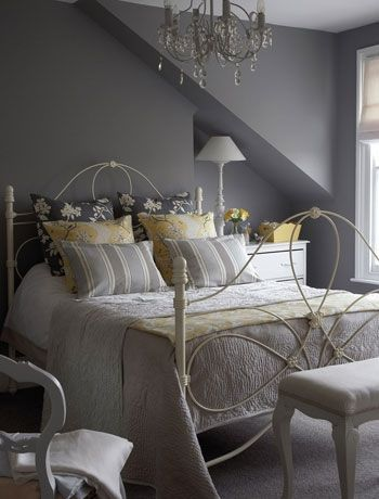 Choose a soft grey bedroom colour scheme